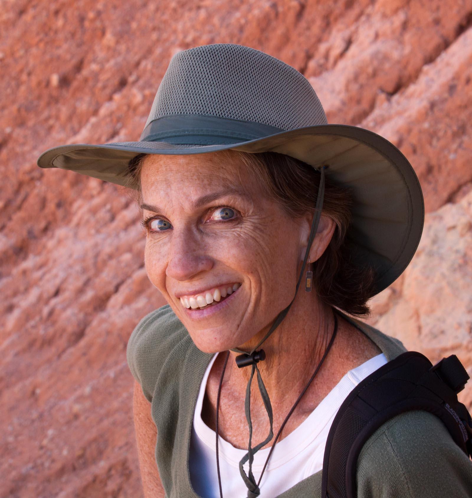Lori Sortino green hat Bryce National Park hike