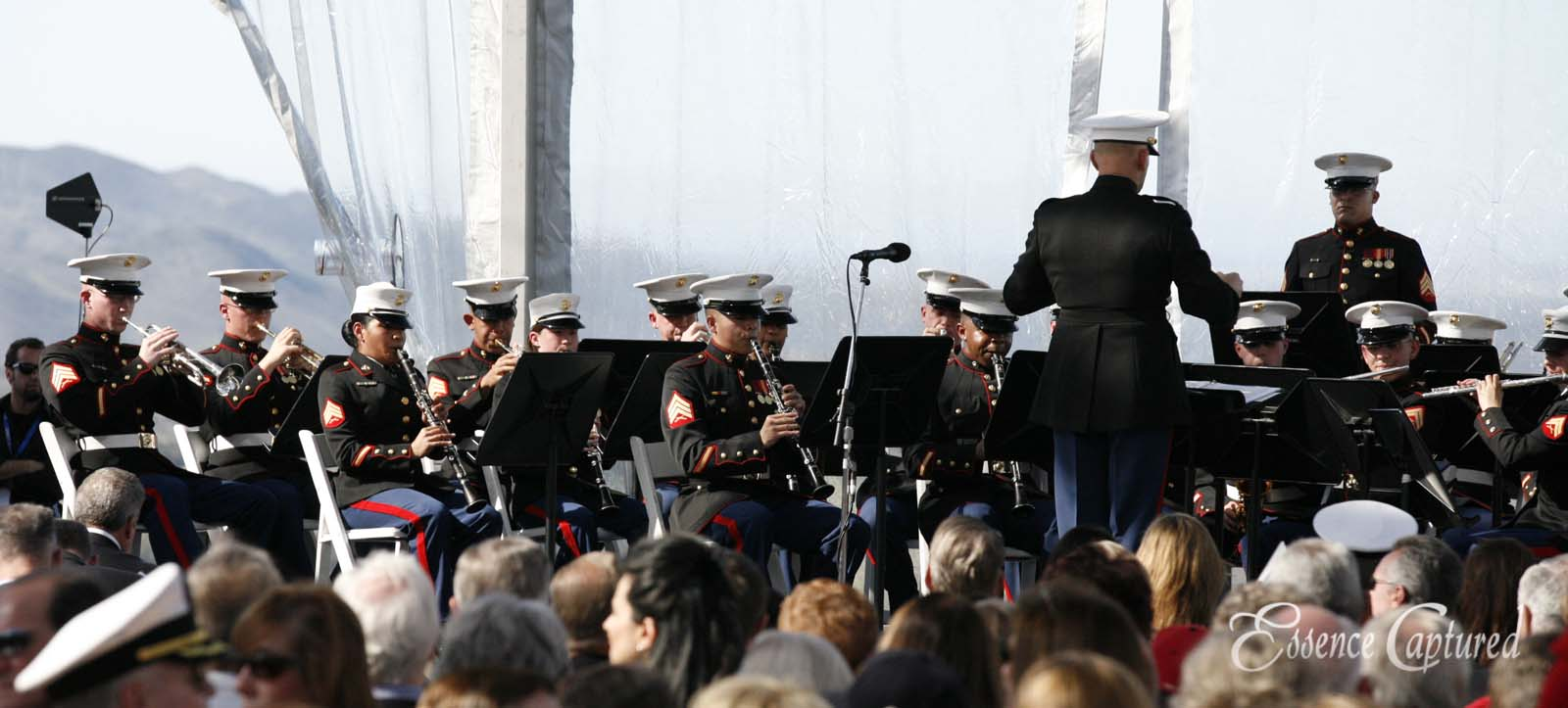 armed forces orchestra plays at event
