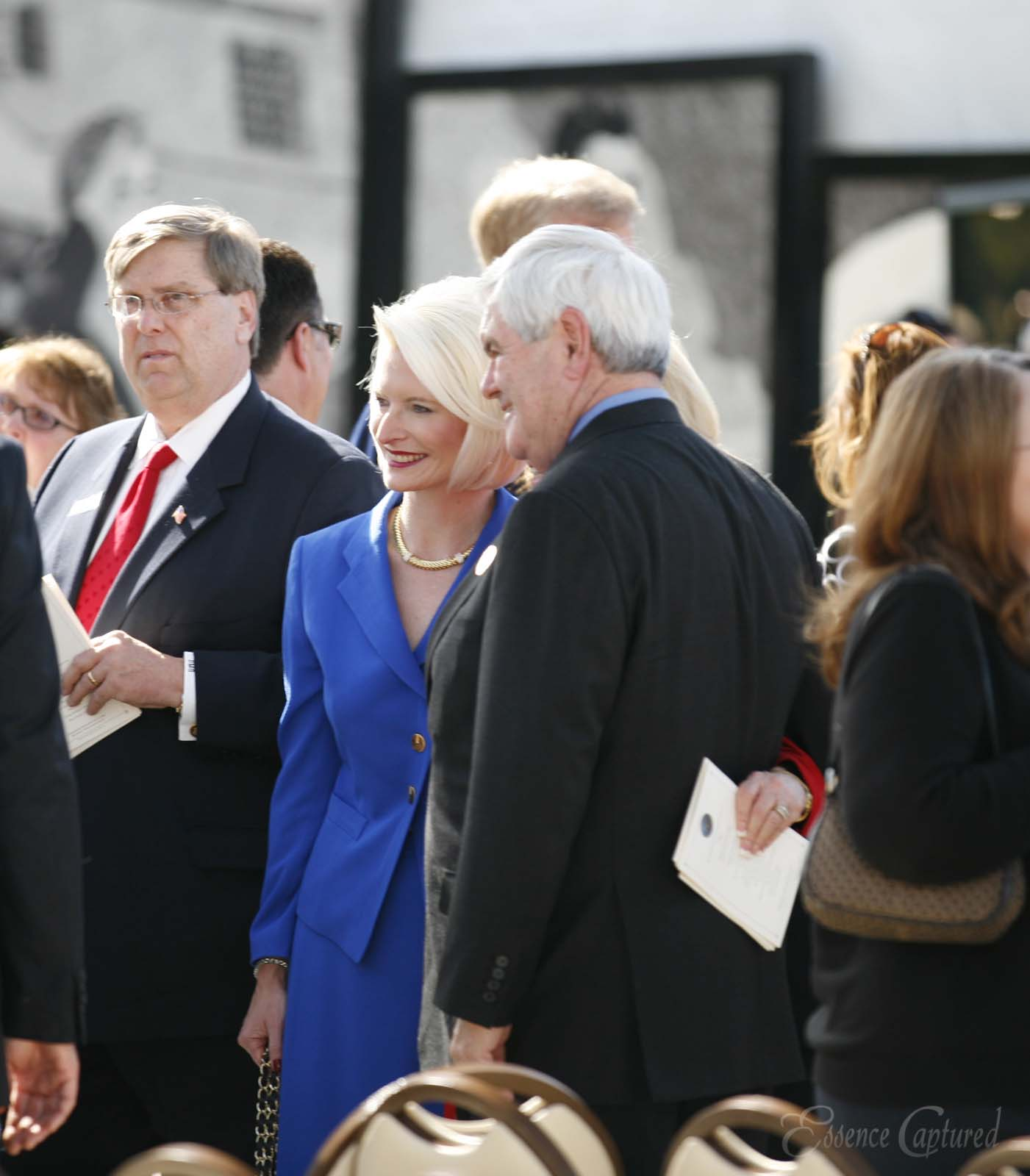 Newt Gingrich Former Speaker of the United States House of Representatives and wife Callista at event