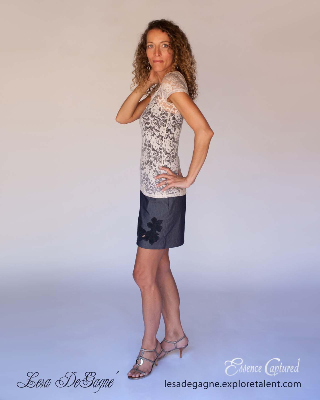 model book body shot female mid 40s