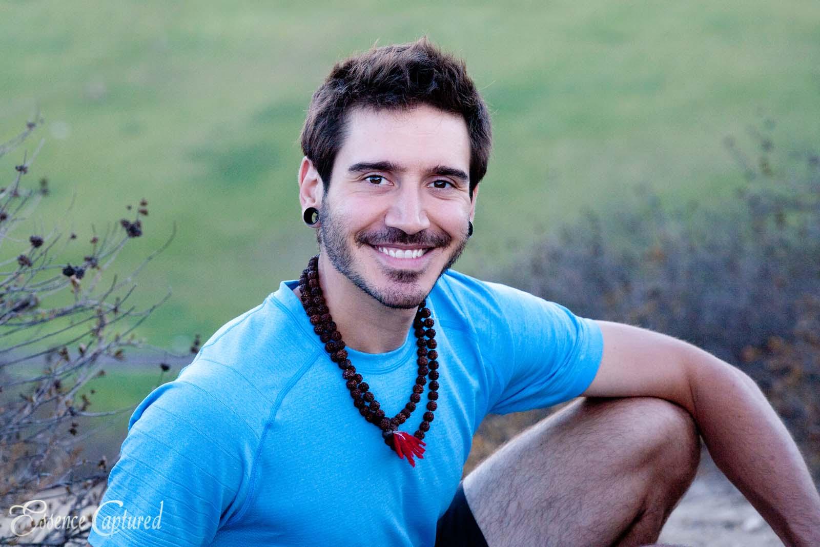 portrait male mid twenties brown hair yoga teacher