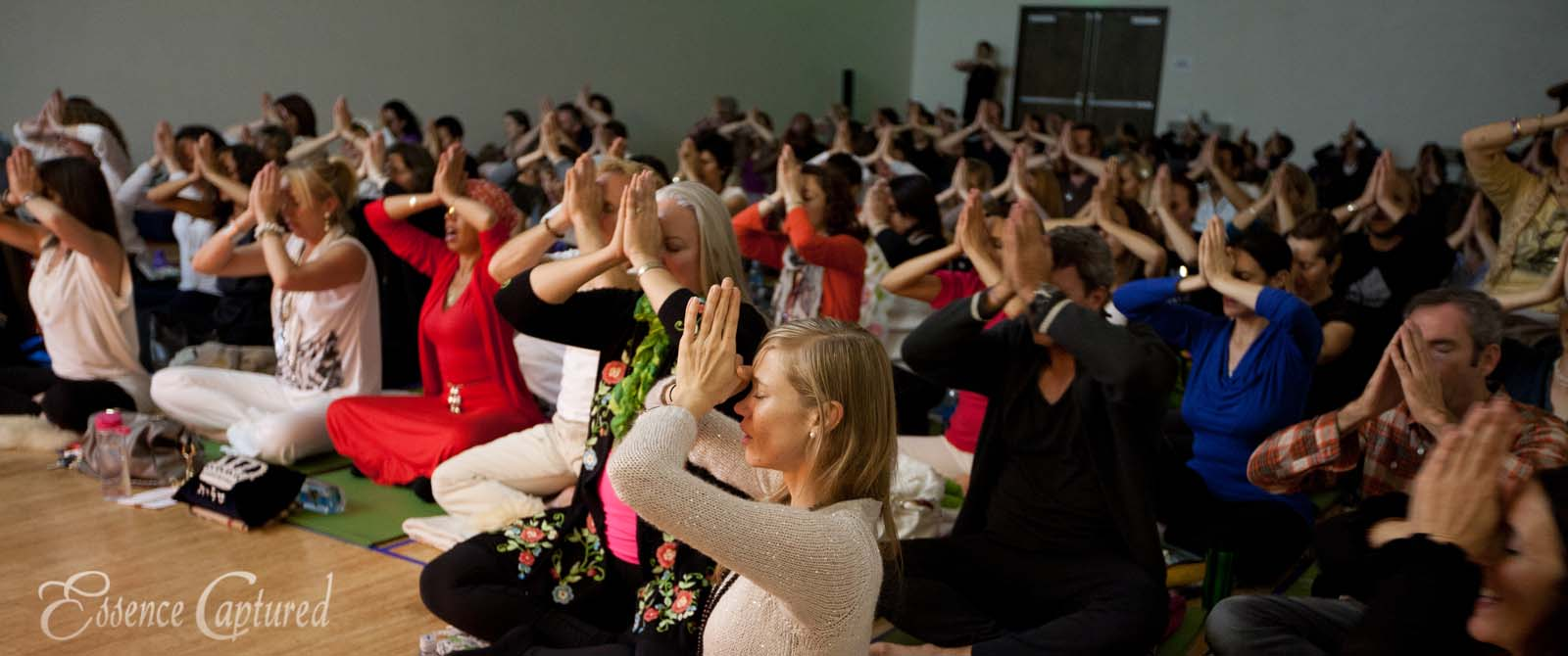 Naam Yoga L.A. New Years Eve event prayer hands at forehead