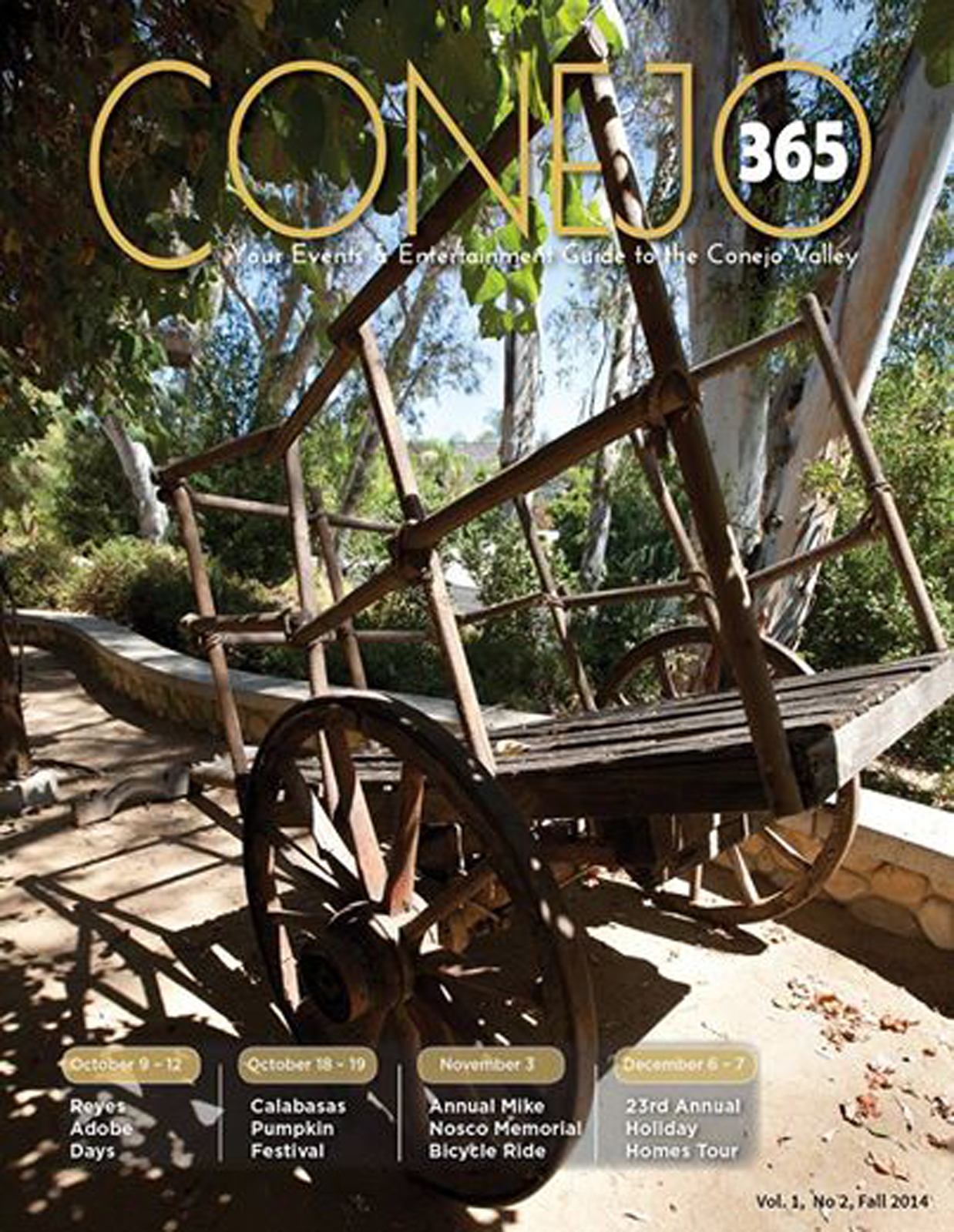 Conejo365 Magazine Cover fall 2014 cart from Planet of the Apes movie at Reyes Adobe