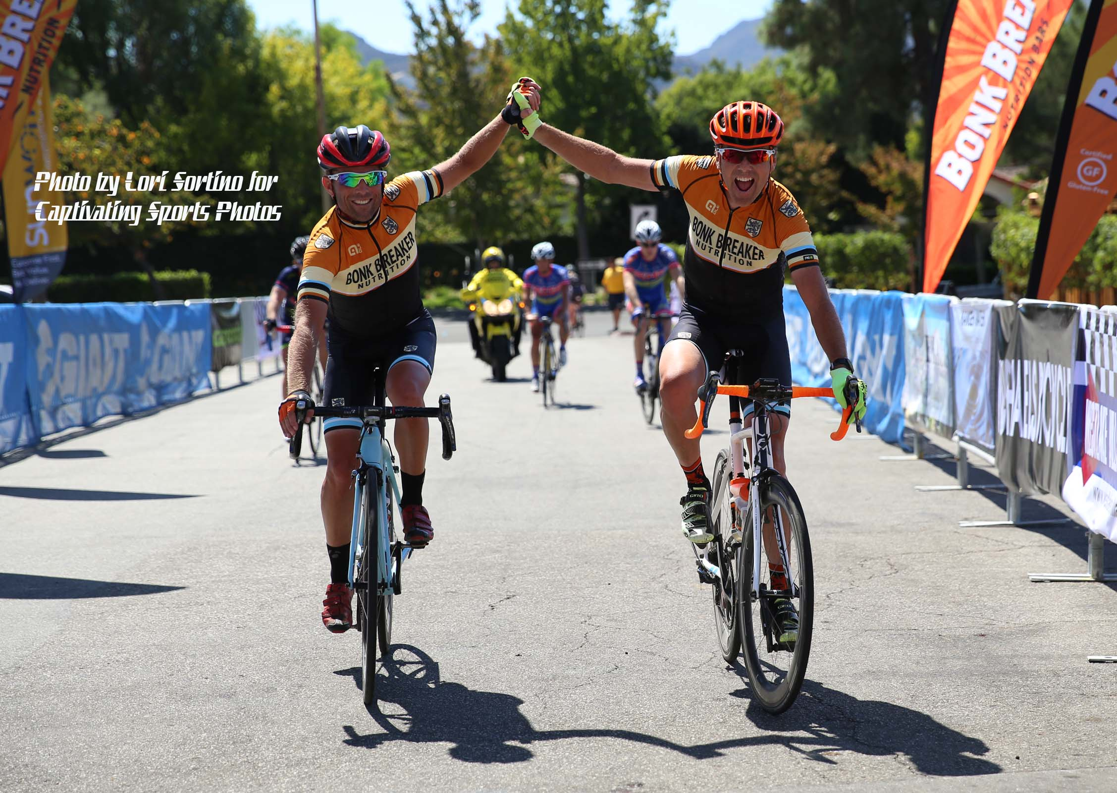 Westlake Village Century two friends finish together