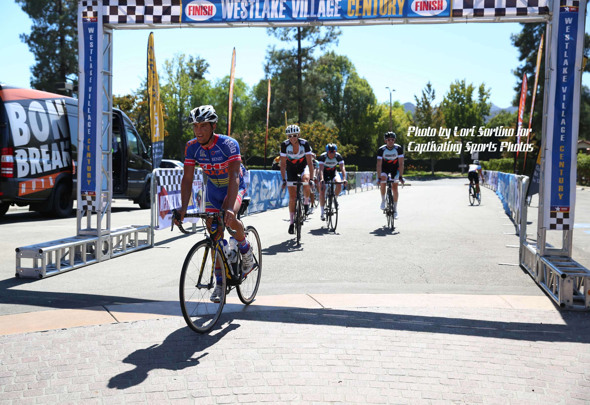 Westlake Village Century finish line