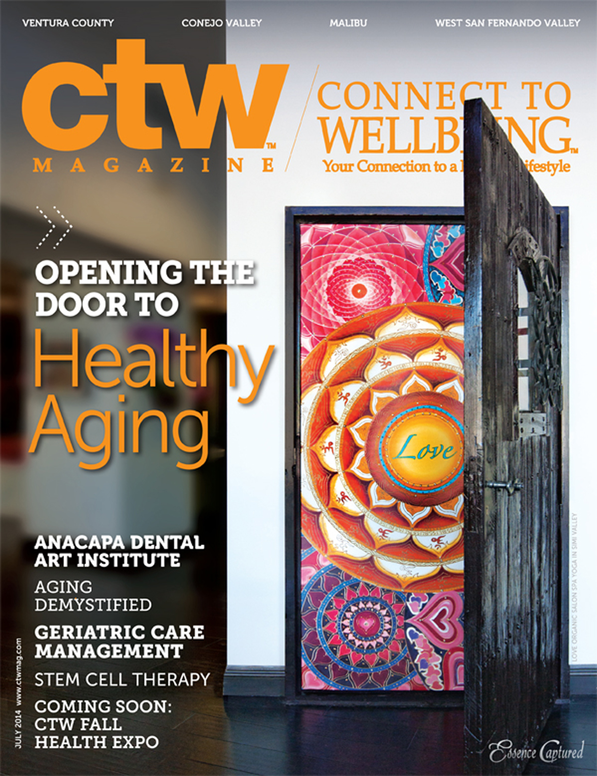 Connect to Wellbeing Magazine Cover July 2014 Healthy Aging