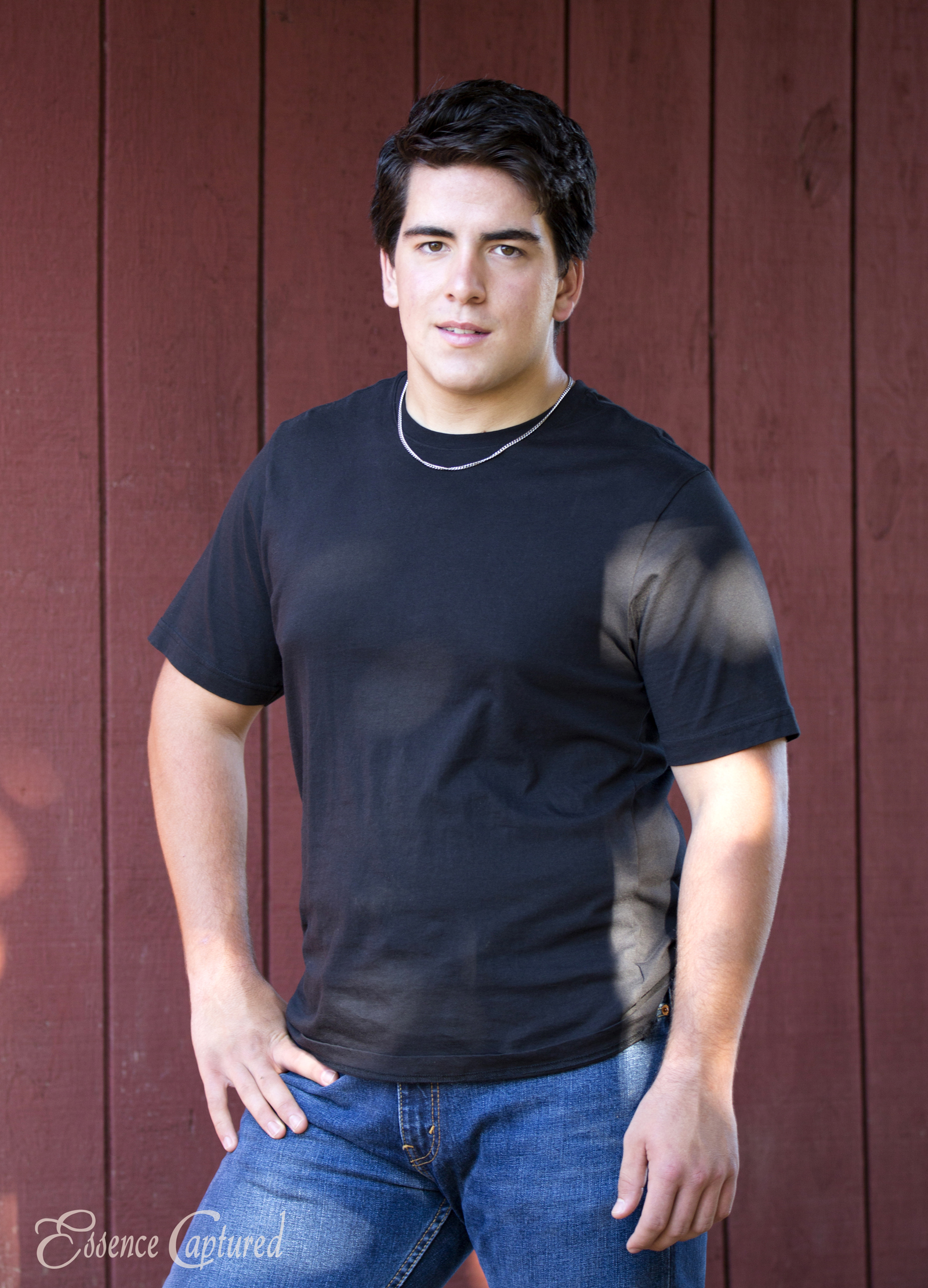 male in black t-shirt